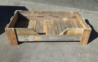 Rustic Wood Dog Bed with Mattress XL