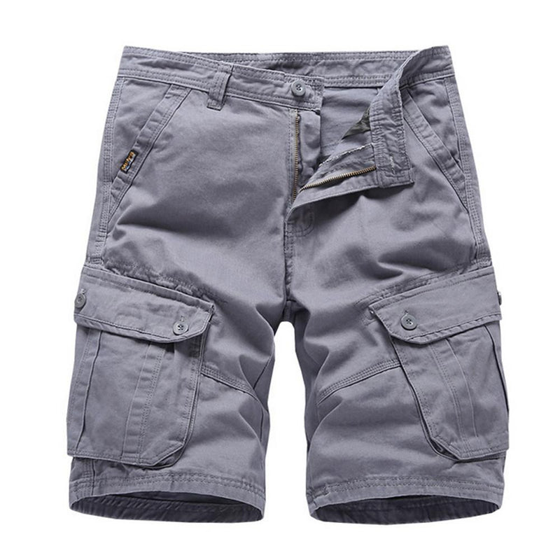 Men's Basic Shorts Pants - Solid Colored Gray Army Green Khaki's - SlickWearApparel
