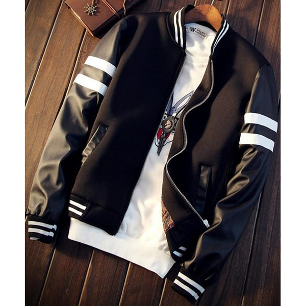 Men's Winter Jacket White / Black - SlickWearApparel