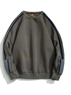 Men's Sweatshirt - Color Block Gray L - SlickWearApparel