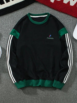 Men's Sweatshirt - Color Block Green XXXL - SlickWearApparel