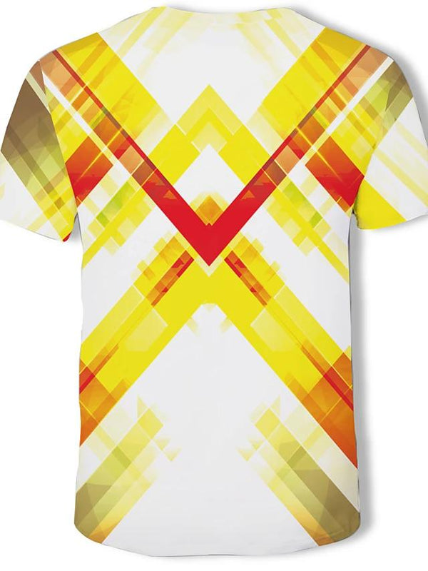 Men's Plus Size T-shirt - Geometric Print