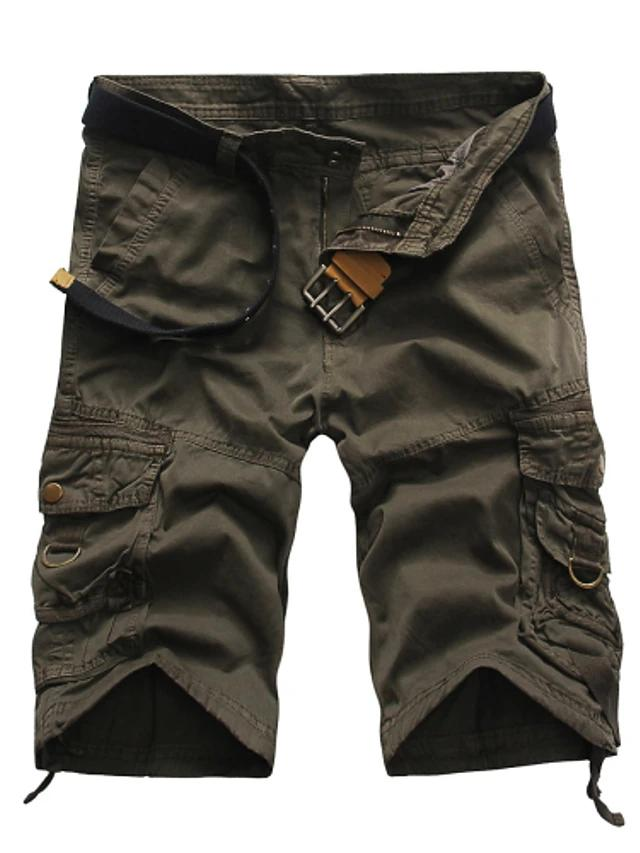 Straight / Shorts Pants - Solid Colored Cotton Green Black / White Khaki's - SlickWearApparel