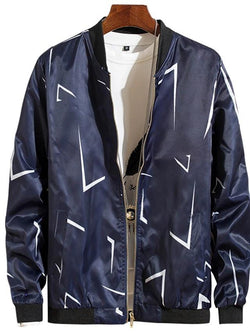 Men's Spring & Fall Long Sleeve Polyester Jackets - SlickWearApparel