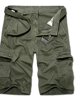 Men's Solid Colored Black Army Green Yellow Shorts - SlickWearApparel