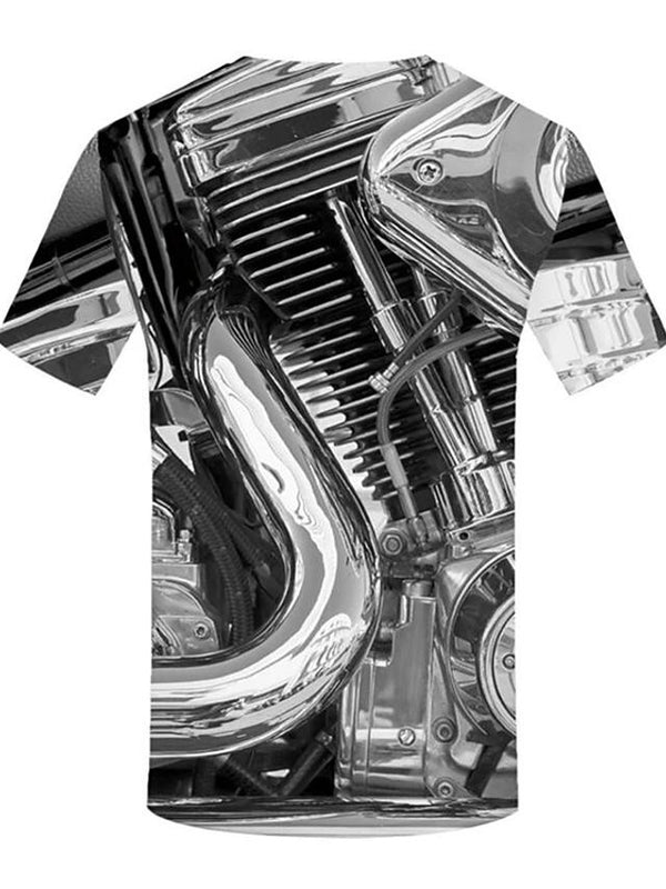 Men's Plus Size Motor Cycle Designer T-shirt