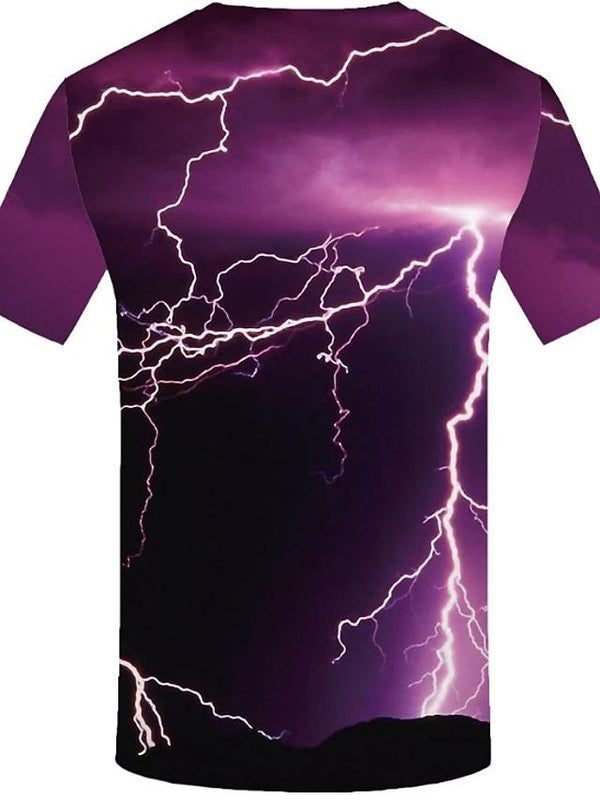 Men's Lightening Storm 3D Print T-Shirt