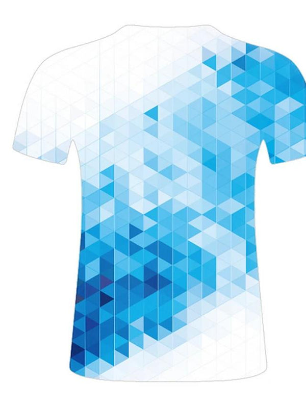 Men's Geometric Blue 3D T-Shirt