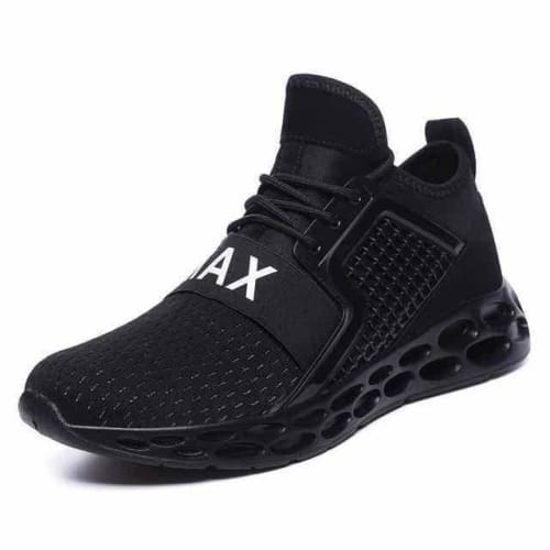 action mens athletic breathable sports running shoes - G15 Black / 10