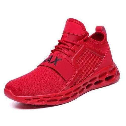 action mens athletic breathable sports running shoes - G15 Red / 10