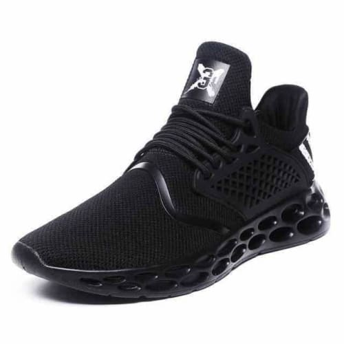 action mens athletic breathable sports running shoes - G19 Black / 10