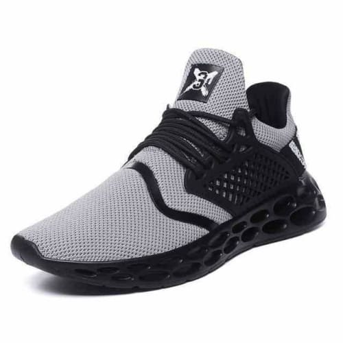 action mens athletic breathable sports running shoes - G19 Gray / 10