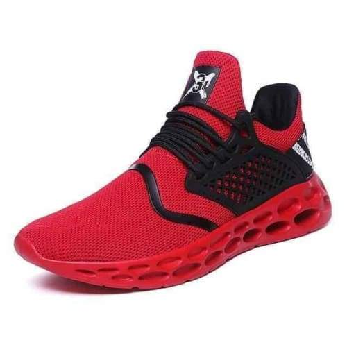 action mens athletic breathable sports running shoes - G19 Red / 10