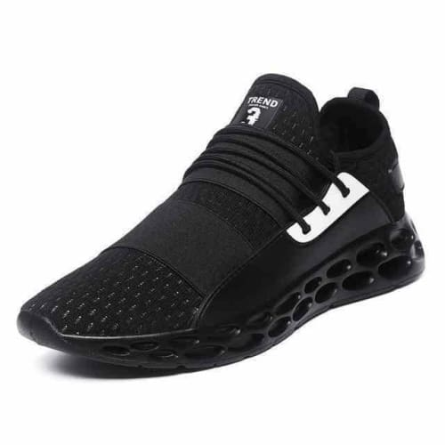 action mens athletic breathable sports running shoes - G20 Black / 10