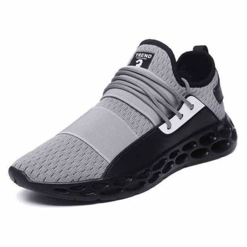 action mens athletic breathable sports running shoes - G20 Gray / 10