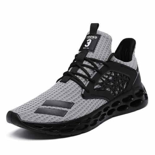 action mens athletic breathable sports running shoes - G21 Gray / 10