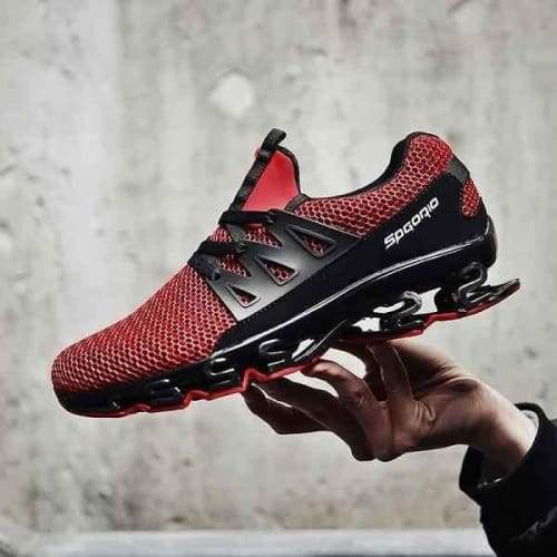 Breathable High Spring Running Sneakers - Red / 9.5