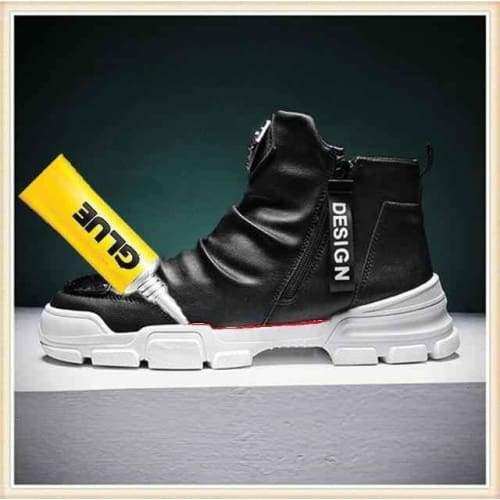 Fashion Designer High Top Boots - PU Leather No Plush 2 / 38