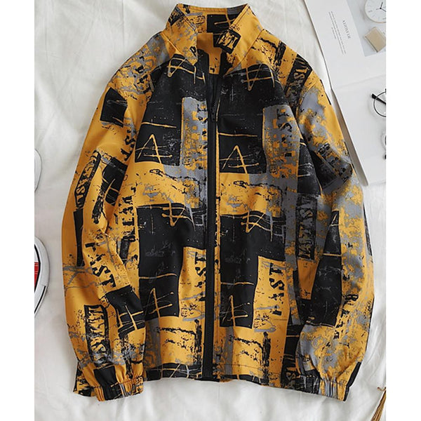 Men's Polyester White / Black / Yellow Jackets - SlickWearApparel