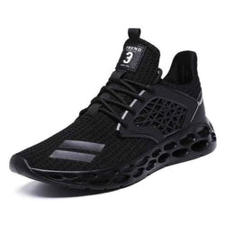 mens air fitness mesh running shoes - black1 / 7