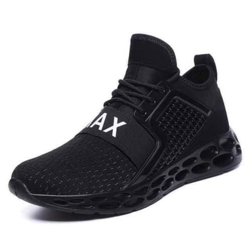 mens air fitness mesh running shoes - black2 / 7