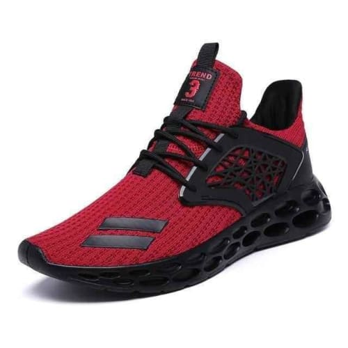 mens air fitness mesh running shoes - red1 / 7