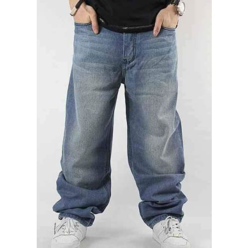 Men's Loose Casual Light Washed Baggy Denim Jeans - SlickWearApparel