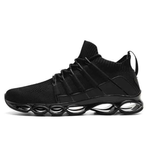 Mens Tennis Sneaker Running Shoes - Black / 10