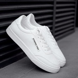 Mens White Fashion Lace-up Shoes - 1 / 7