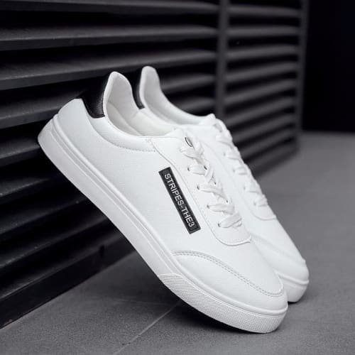 Mens White Fashion Lace-up Shoes - 2 / 7