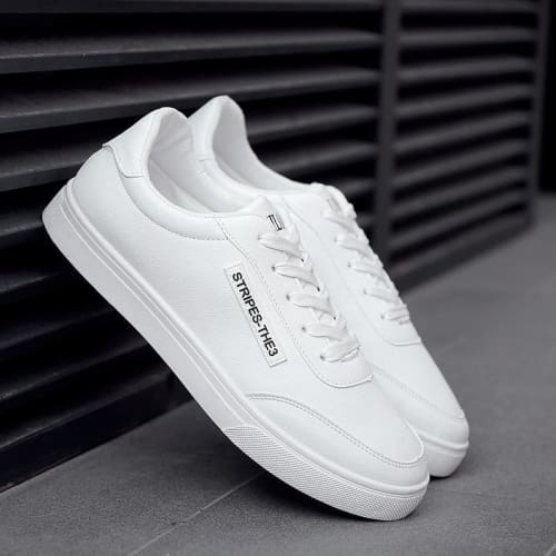 Mens White Fashion Lace-up Shoes