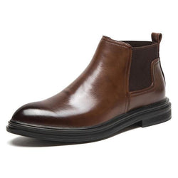 Men's Leather Brown Boots - SlickWearApparel