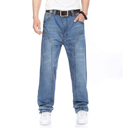Men's Hip Hop Baggy Jeans - SlickWearApparel