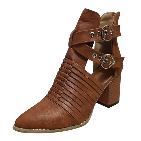 womens-clothing-wear,Ankle PU Lace Strap Women's High Heel Boots,SlickWearApparel, L.L.C ,