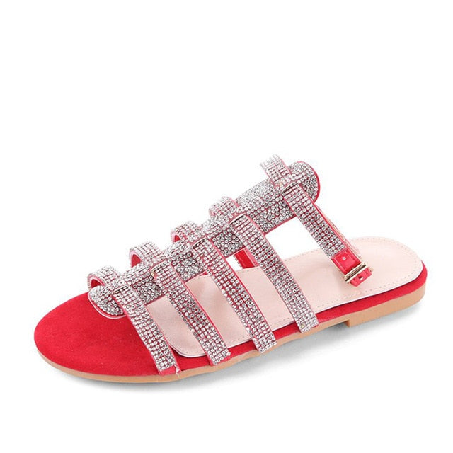 womens-clothing-wear,Women's Gladiator Ankle Straps Crystal Designer Sandals,SlickWearApparel, L.L.C ,