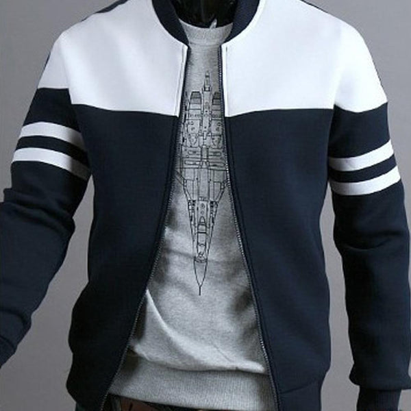 Fashion Men's Zipper Sportswear Long Sleeve Jacket - SlickWearApparel