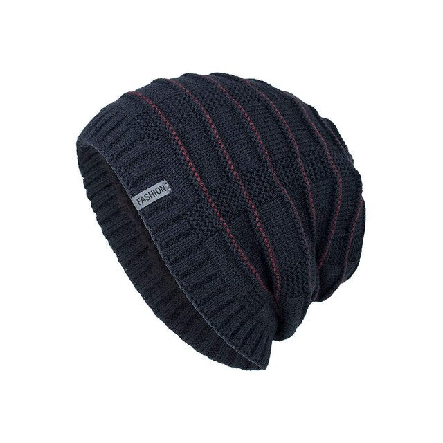 Knitted Wool Beanie Warm Stylish Hats-slickwearapparel