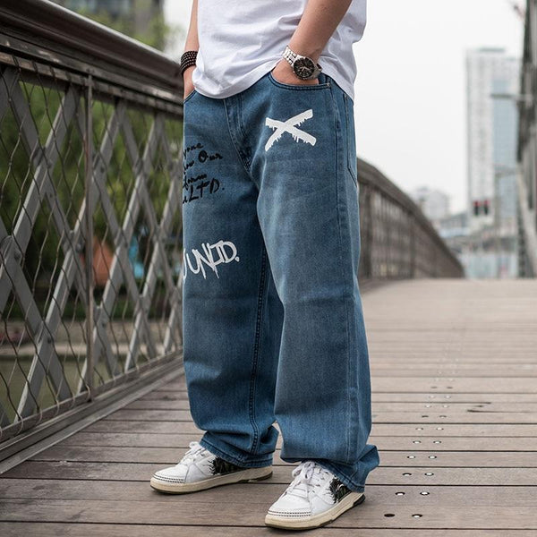 Men's Loose Fit Baggy Hip Hop Jeans