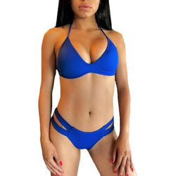 Sexy Bandage Bikini Brazilian Solid Hot Summer Beachwear Two Piece Suits