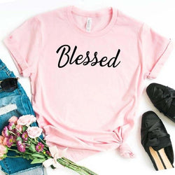Blessed Letters Print Women T-Shirt