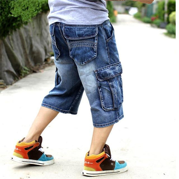 Men's Loose Baggy Denim Short Men Jeans