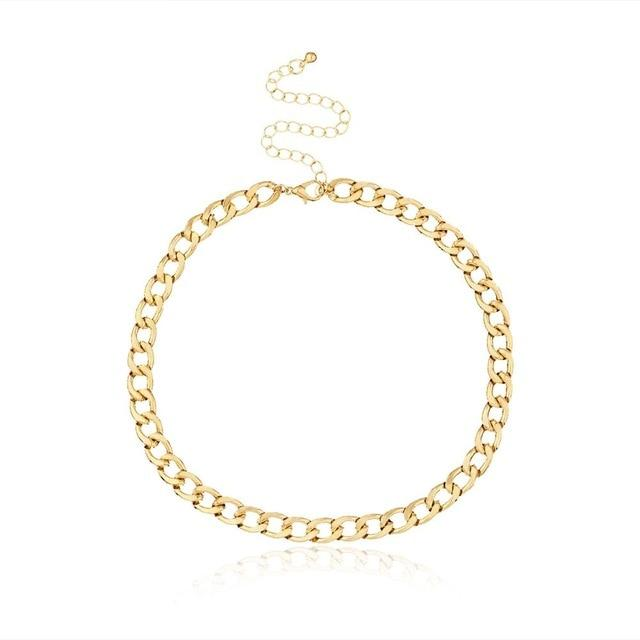 Fashion Link Chain Choker Necklace For Women