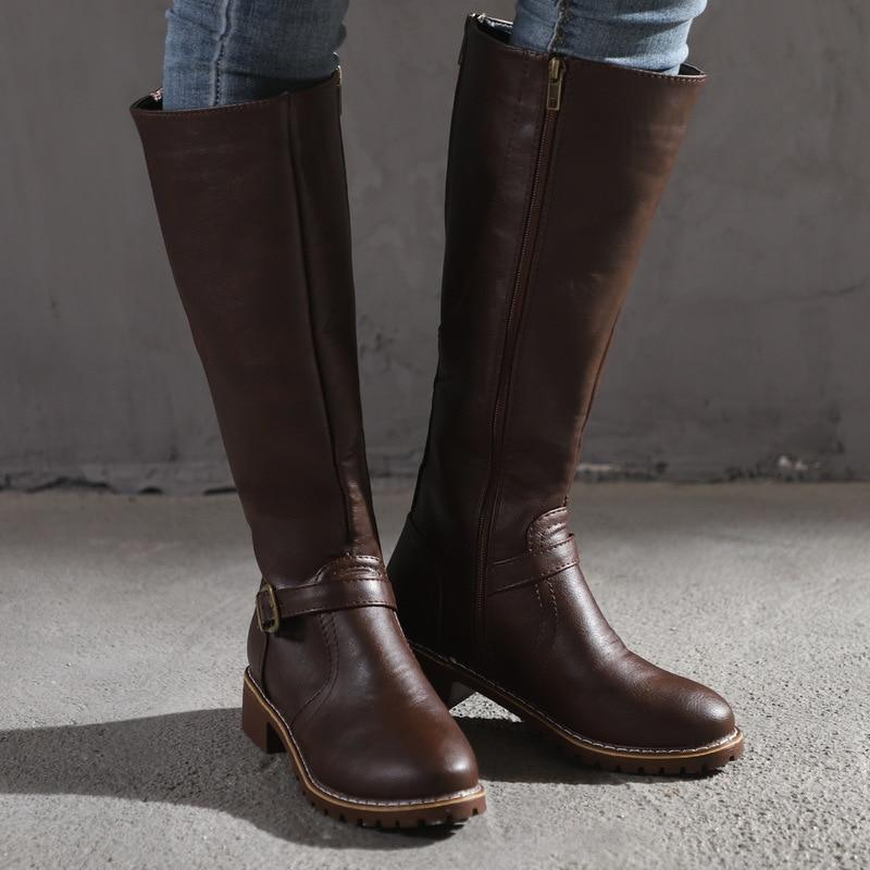 Thigh High Vintage Zip Pullover Leather Boots