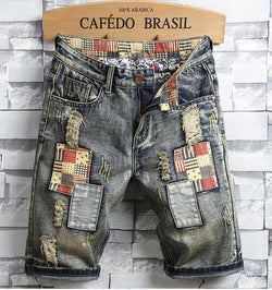 Denim Retro Short Jeans - SlickWearApparel