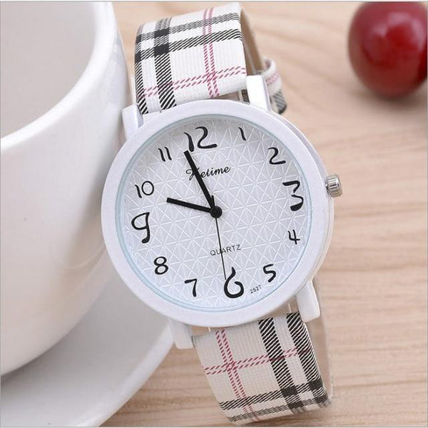 Women's Glass Dial Leather Buckle Quartz Watch - SlickWearApparel