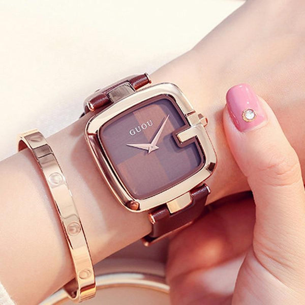Ladies Bracelet Leather Strap Watches - SlickWearApparel