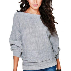Women's Knitting Sweater O-Neck Pullover Jumper - SlickWearApparel