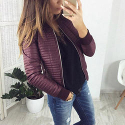 Women's Fashion Style Patterned Long Sleeved Causal Jacket - SlickWearApparel