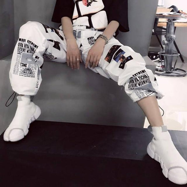 Hip Hop Cool Print Pants Streetwear