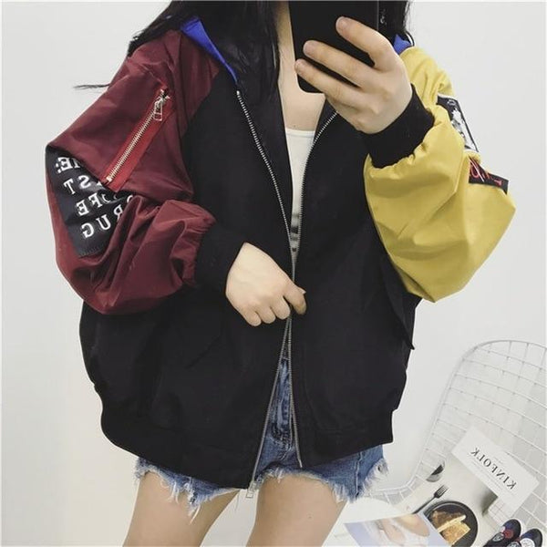 Women's Multi-Color Stylish Long Sleeved Spring Jacket's